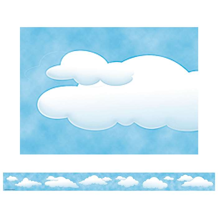 Clouds Straight Border Trim By Teacher Created Resources