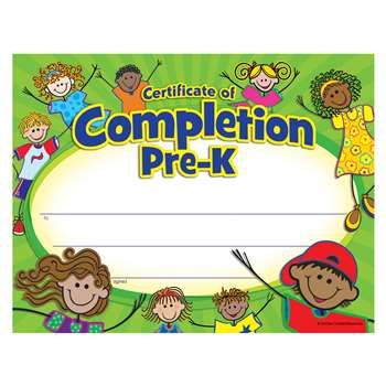 Pre K Certificate Of Completion, TCR4588