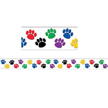 Colorful Paw Prints Border Trim By Teacher Created Resources