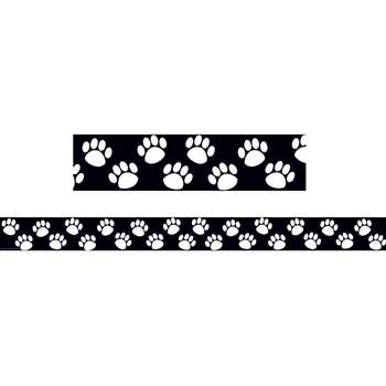 Black With White Paw Prints Border Trim By Teacher Created Resources
