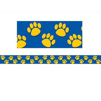 Blue With Gold Paw Prints Border Trim By Teacher Created Resources