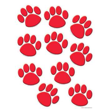 Red Paw Prints Accents By Teacher Created Resources