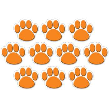 Orange Paw Print Accents 30 Pk By Teacher Created Resources