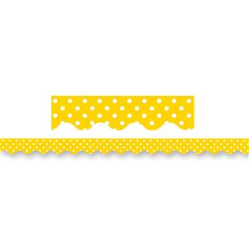 Yellow Mini Polka Dots Border Trim By Teacher Created Resources