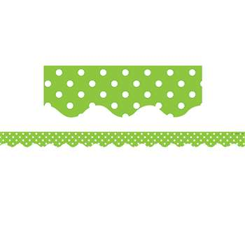 Lime Mini Polka Dots Border Trim By Teacher Created Resources