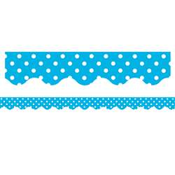 Aqua Mini Polka Dots Border Trim By Teacher Created Resources