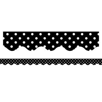 Black Mini Polka Dots Border Trim By Teacher Created Resources
