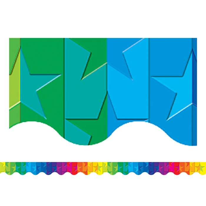Stars Rainbow Border Trim By Teacher Created Resources
