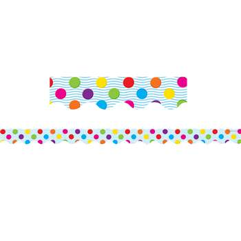 Multicolor Polka Dots Border Trim By Teacher Created Resources