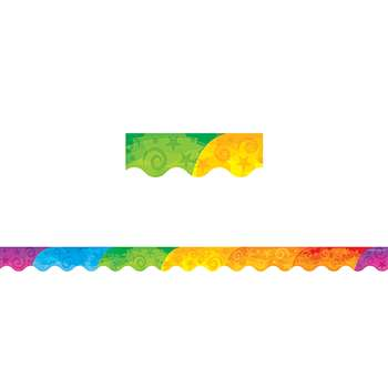 Abstract Rainbow Border Trim By Teacher Created Resources