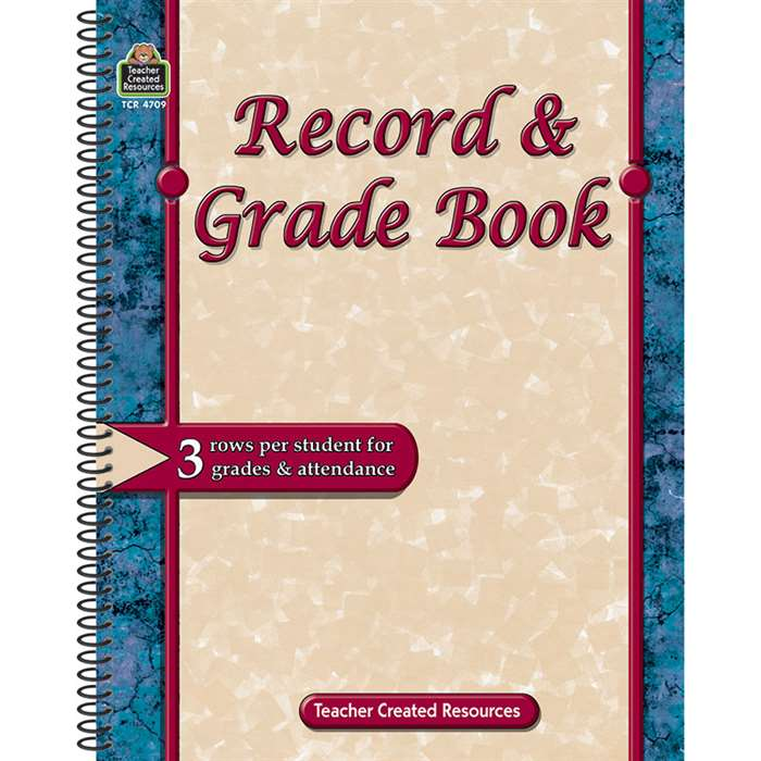 Record & Grade Book By Teacher Created Resources