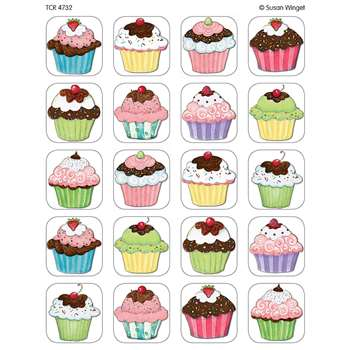 Sw Cupcakes Stickers By Teacher Created Resources