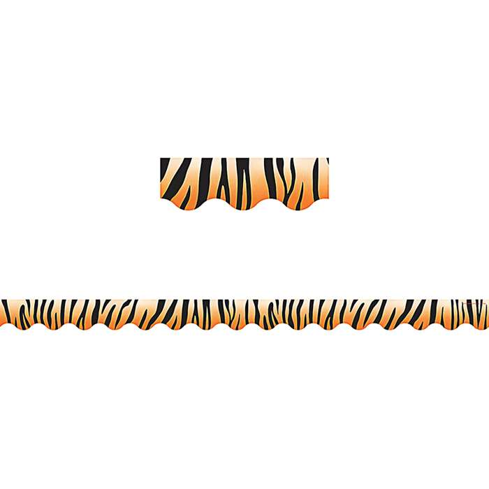Tiger Print Scalloped Border Trim By Teacher Created Resources