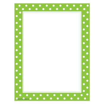 Lime Polka Dots Computer Paper, TCR4765