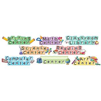 Center Signs Mini Bulletin Board Set By Teacher Created Resources