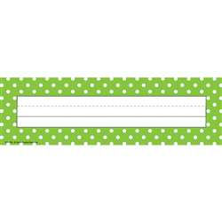 Lime Polka Dots Name Plates By Teacher Created Resources
