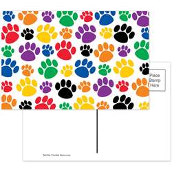 Colorful Paw Prints Postcard By Teacher Created Resources