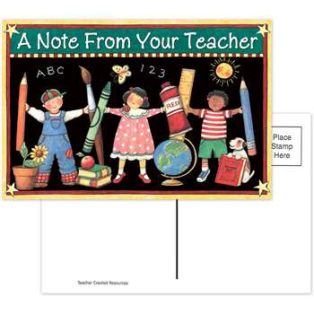 Sw Note From Your Teacher Postcard By Teacher Created Resources
