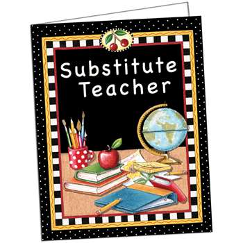 Substitute Teacher Pocket Folder Tc By Teacher Created Resources