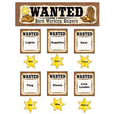 Wanted Western Helpers Mini Bulletin Board Set By Teacher Created Resources