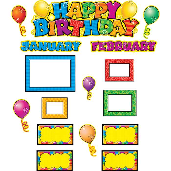 Happy Birthday Mini Bulletin Board Set By Teacher Created Resources