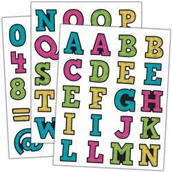 Chalkboard Brights Alphabet Stickers, TCR5017
