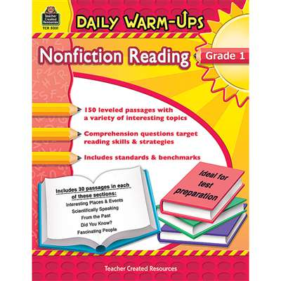Daily Warm Ups Gr 1 Nonfiction Reading By Teacher Created Resources