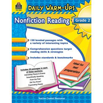 Daily Warm Ups Gr 2 Nonfiction Reading By Teacher Created Resources