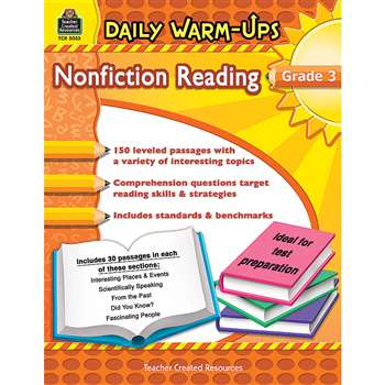 Daily Warm Ups Gr 3 Nonfiction Reading By Teacher Created Resources