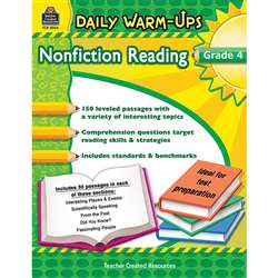 Daily Warm Ups Gr 4 Nonfiction Reading By Teacher Created Resources