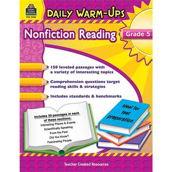 Daily Warm Ups Gr 5 Nonfiction Reading By Teacher Created Resources