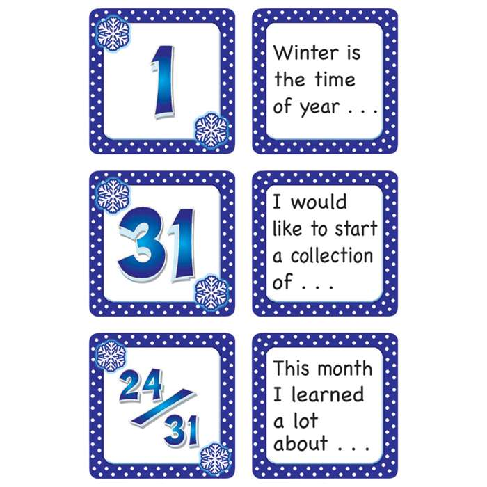 January Polka Dots Calendar Days Story Starters By Teacher Created Resources