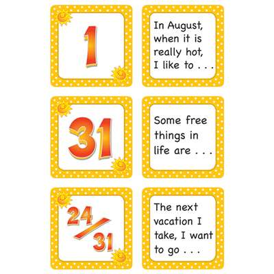 August Polka Dots Calendar Days Story Starters By Teacher Created Resources
