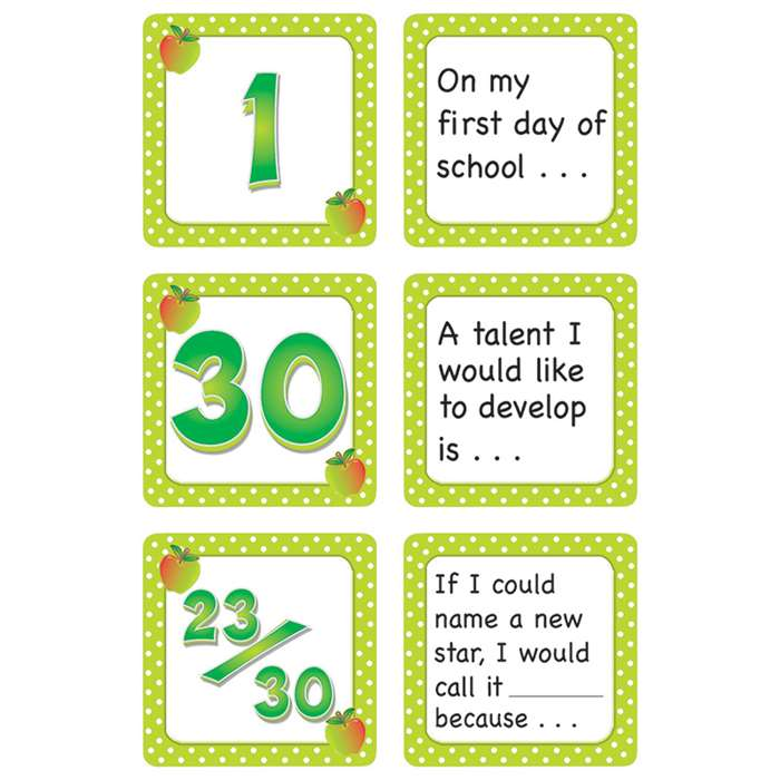 September Polka Dots Calendar Days Story Starters By Teacher Created Resources