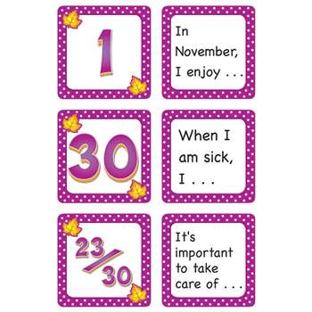 November Polka Dots Calendar Days Story Starters By Teacher Created Resources