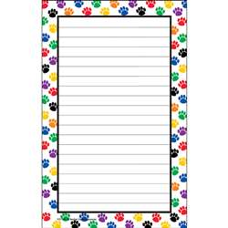 Colorful Paw Prints Notepad By Teacher Created Resources