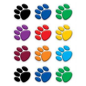 Colorful Paw Prints Mini Accents By Teacher Created Resources