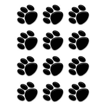 Black Paw Prints Mini Accents By Teacher Created Resources