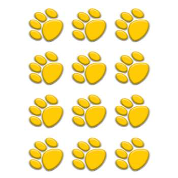Gold Paw Prints Mini Accents By Teacher Created Resources