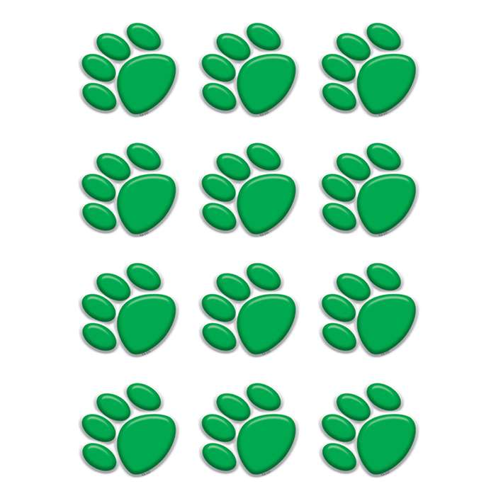 Green Paw Prints Mini Accents By Teacher Created Resources