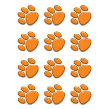 Orange Paw Prints Mini Accents By Teacher Created Resources