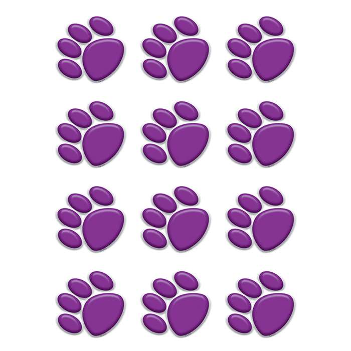 Purple Paw Prints Mini Accents By Teacher Created Resources