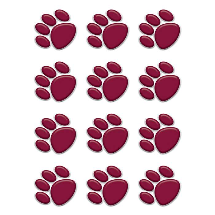 Maroon Paw Prints Mini Accents By Teacher Created Resources