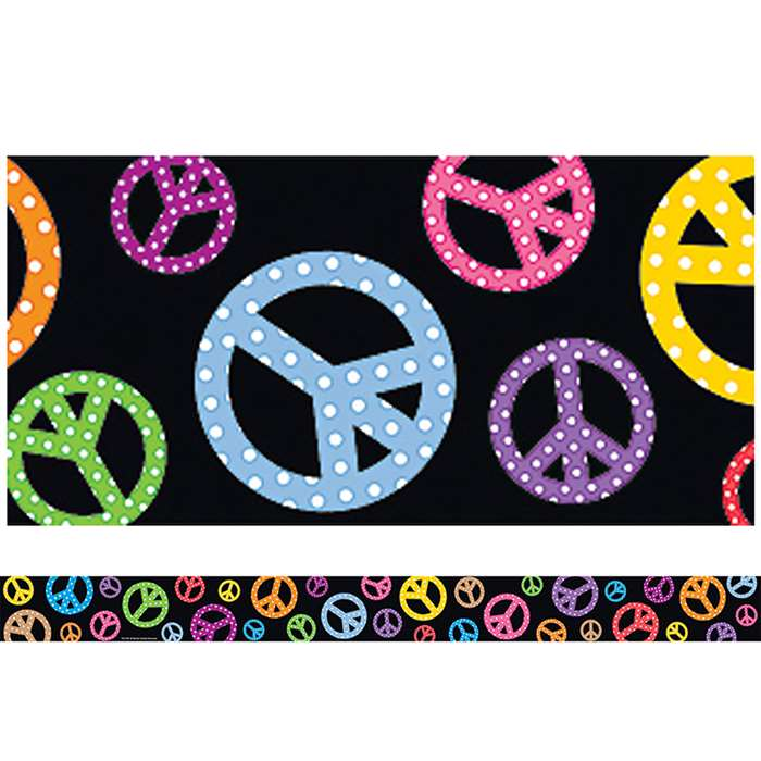 Peace Signs Straight Border Trim By Teacher Created Resources