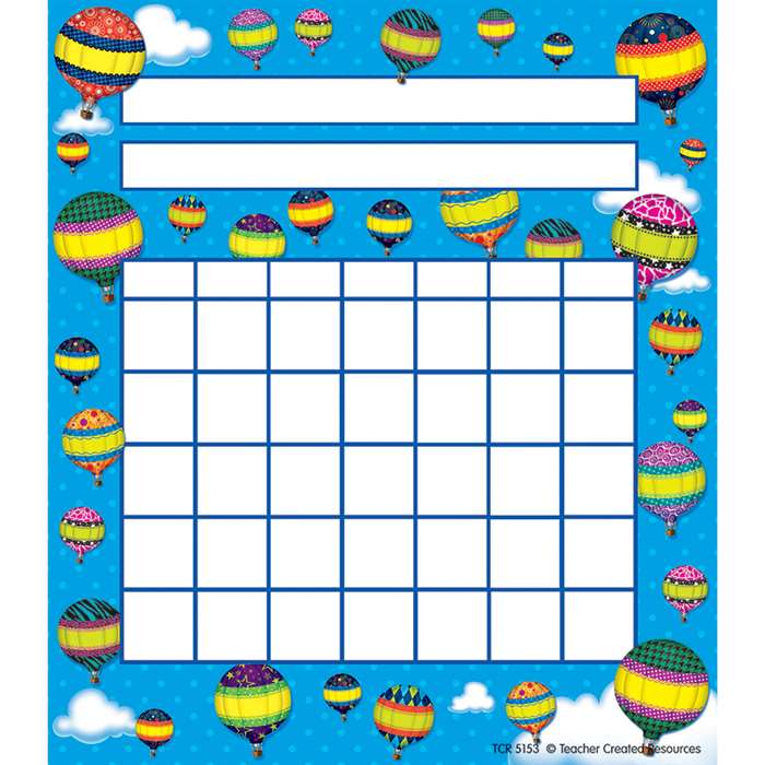 Hot Air Balloons Incentive Chart Pk By Teacher Created Resources