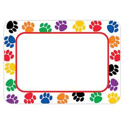 Colorful Paw Prints Name Tags Labels By Teacher Created Resources