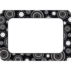 Black/White Crazy Circles Name Tags Labels By Teacher Created Resources