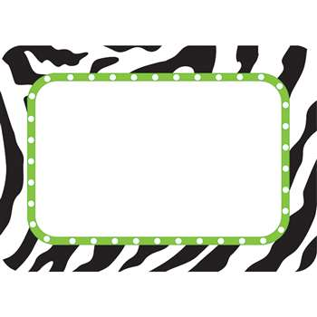 Zebra Name Tags Labels By Teacher Created Resources