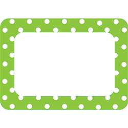 Lime Polka Dots 2 Name Tags Labels By Teacher Created Resources