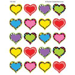 Fancy Hearts Stickers By Teacher Created Resources